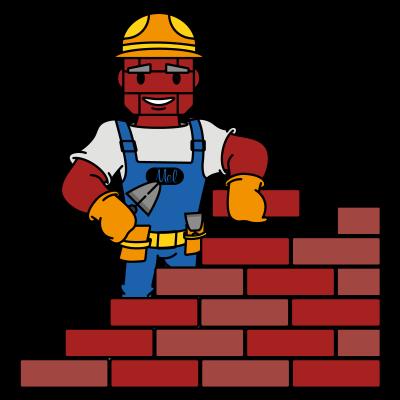 Baksteen-Mel-Mascot-Brick-Wall